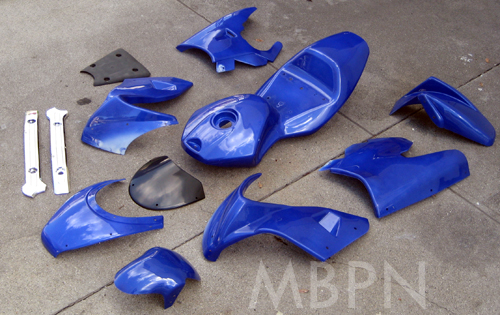 pocket bike parts 12pcs fairings kit blue. Black Bedroom Furniture Sets. Home Design Ideas